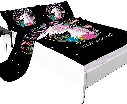 Bedclothes-Blanket Edredón Ajustable Queens,,Sábana Impresa en 3D, Microfibra 1800, Cambios, Transpirable y Suave, Que Incluye 1 sábana y 2 Fundas de Almohada (marrón)-210 * 210_9