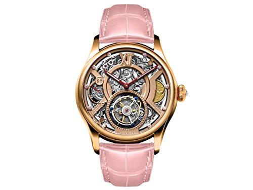 Memorigin Reloj de la serie Time Witness Tourbillon versión rosa diseñado por Daniel Chan