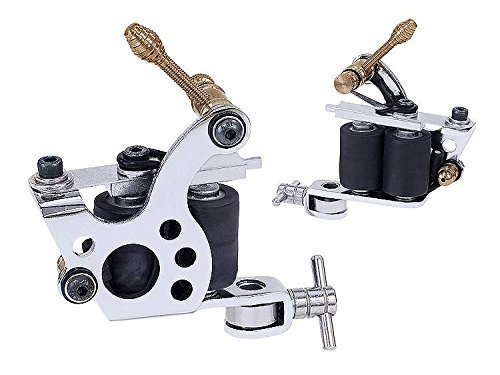 Afterlife Custom Irons Dual Coil Shader Liner Tattoo Machine - Chrome