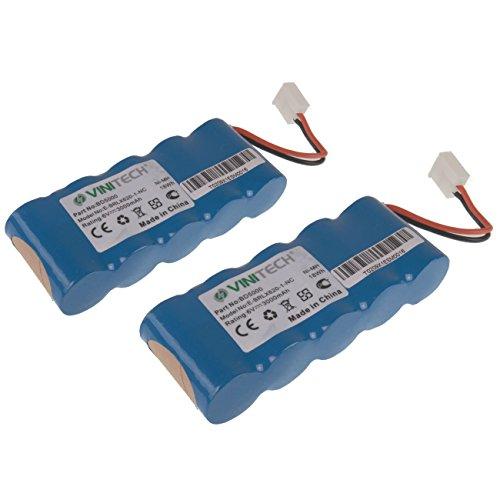 2 Stück Vinitech Akku 6V 3000mAh NiMh passend für BOSCH Roll-Lift K6, BOSCH Roll-Lift K8, BOSCH Roll-Lift K10, BOSCH Roll-Lift K12