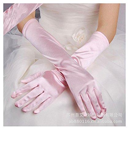 Onderscheidende chique stretchhandschoenen halloween satijnen handschoenen avondfeest bruidsjurk lange satijnen handschoenen