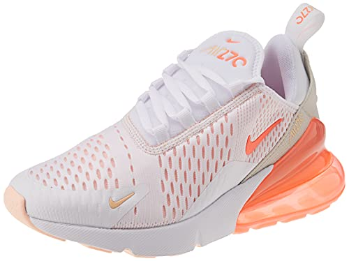 Nike Wmns Air MAX 270 ESS, Zapatillas para Correr Mujer, White BRT Mango Crimson Tint Pearl White, 38.5 EU