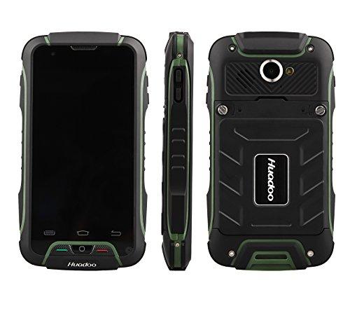 Huadoo V3 Mobile Phones Factory Unlocked Cell Phones Ip68 Tri-Proof Waterproof Shockproof Dustproof 4.02 Inch Touch Screen Android 4.4 Ultra Rugged Smartphone Simple GSM 3g Wcdma850/2100 (Green) (Top Ten Best Selling Smartphones)