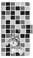 docomo LG VELVET L-52A 手帳型 スマホ ケース カバー 【ステッチタイプ】 YJ079 シュナウザー4 横開き UV印刷