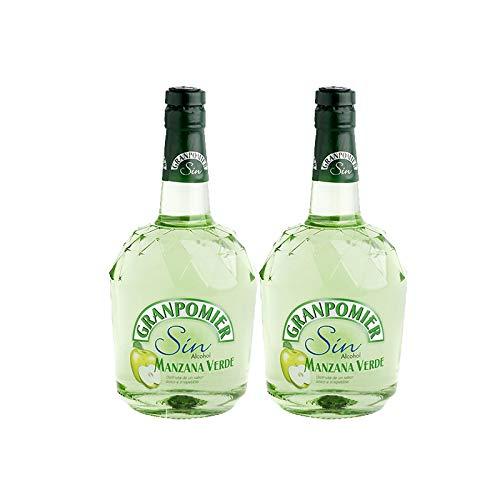 Licor de manzana Granpomier sin alcohol de 70 cl - Bodegas Gonzalez Byass (Pack de 2 botellas)