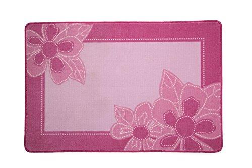 Delta Children Soft Kids Area Rug for Girls, (2.5 Foot X 4 Foot), Girls Foral, Pink, Girls Foral |Pink