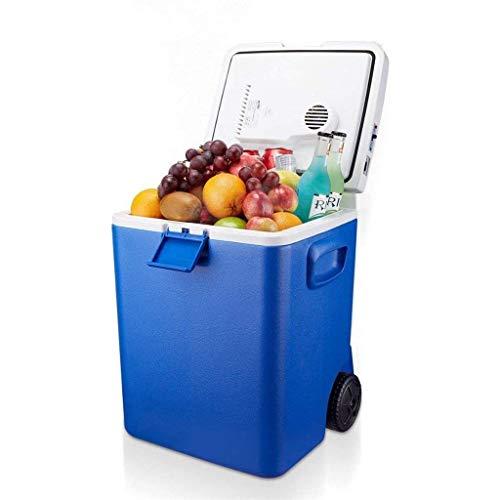 GUOCAO Mini Nevera eléctrica Enfriador y Calentador móvil, portátil 30L Nevera Coche con CC 12V del vehículo Plug Refrigeradores
