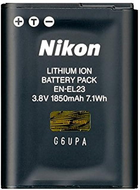 Nikon EN-EL23 - Batería Recargable para cámara Digital (1850 mAh Iones de Litio) Color Negro