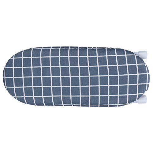 Fybida Mini Tabla de Planchar de Accesorios de Planchado Multifuncional Plegable(Dark Blue Grid)