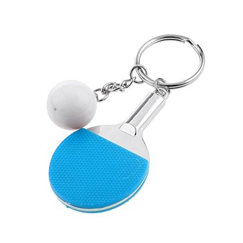 Desconocido Juguetes de Llavero Colgante Tabla de Tenis Ping-Pong la Raqueta Y Bola - Azul