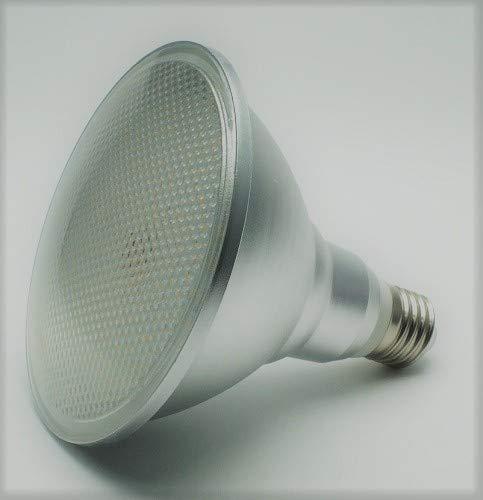 18 Watt PAR 38 LED Lampe, Strahler, Fassung E27, Lichtfarbe warmweiß 2700 Kelvin, 1500 Lumen entspricht ca. 120 Watt Glühlampe, 120° Ausstrahlwinkel. Schutzklasse IP44 für Innen und Außen