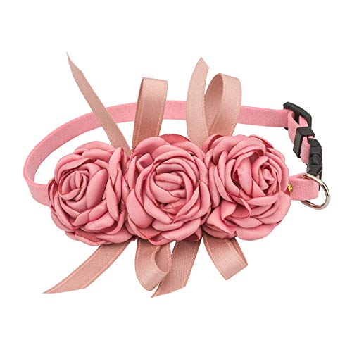 Pets Soft Suede Flower Collars for Dogs