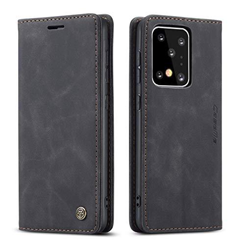 QLTYPRI Funda de Piel Vintage para Samsung S20