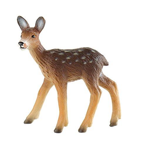 Bullyland 64438 - Spielfigur, Rehkitz, ca. 5 cm groß, liebevoll handbemalte Figur, PVC-frei, tolles Geschenk für Jungen und Mädchen zum fantasievollen Spielen