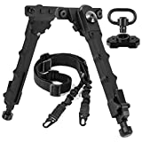 XOOBIU 7.5 to 9 Bipod with 2 Point Sling & Sling Swivel Mount for M-Rail