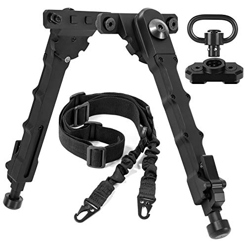 """XOOBIU 7.5"""" to 9"""" Bipod with 2 Point Sling & Sling Swivel and Adapter for M-Rail"""