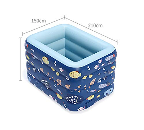 TANERDD Piscina De La Casa Piscina Autoinflable Inalámbrica Estanque De Plástico PVC Al Aire Libre Piscina Casera para Bebés Y Niños,A,210cm
