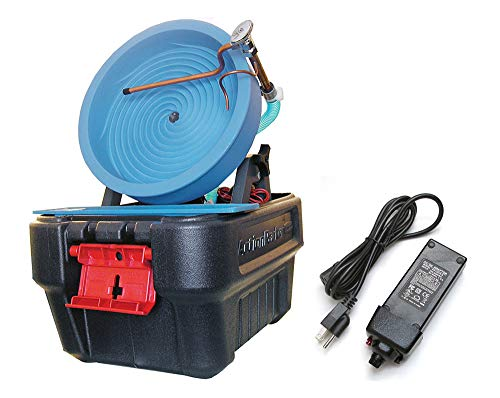 Desert Fox Automatic Gold Panning Machine - Variable Speed - Gold Mining Equipment (Desert Fox + 3 amp Power Supply)