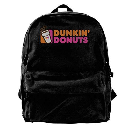 Yuanmeiju Canvas Rucksack Dunkin Donuts Casual Backpacks Print Canvas Daypacks Travel College Rucksack Backpack