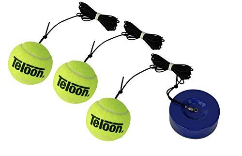 TMB UNIQ Tenis Trainer con 3 pelotas de tenis – Rebote de...