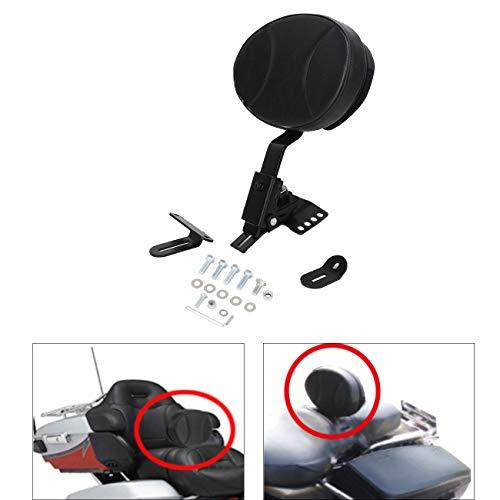 AUFER Adjustable Plug-in Rider Backrest Custom Fit for Touring 1997-2020 Road King/Street Glide/Road Glide/Electra Glide