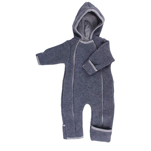 Iobio Baby Wollvlies Overall (Grau, 62/68)