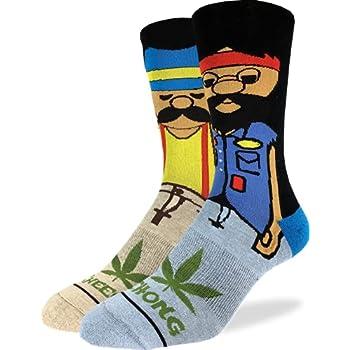 Pride Apparel Good Luck Sock Men's Cheech & Chong Characters Socks, Adult