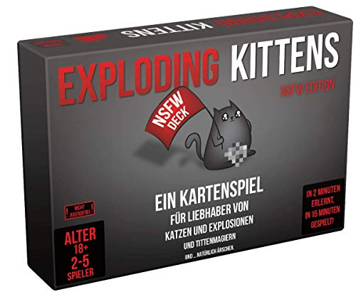 Asmodee Exploding Kittens NSFW Edition,...