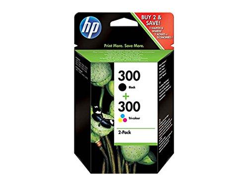 HP Original CN637EE / 300, für DeskJet F 4224 2X Premium Drucker-Patrone, Schwarz, Cyan, Magenta, Gelb, 2 x 4 ml
