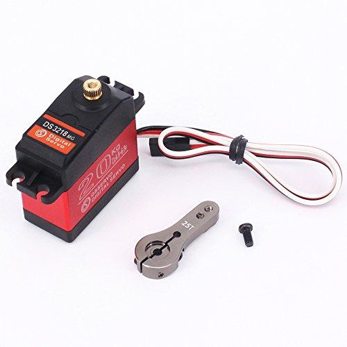 DS3218 RC Servo Wasserdichtes Aluminiumoberteil Einachsiges Servo Metallzahnrad digitales Servo baja 20kg Servo für RC Auto (control angle 270)