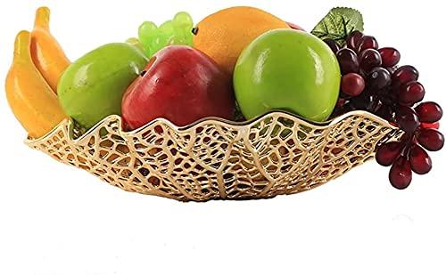 Frutero Chino Fruta Bowl Fruit Basket Home Lotus Forma Forma Fruta Placa de Fruta Almacenamiento Hollow Fruit Placa Creativa Sala de Estar Decoración Decoración del hogar ZSMFCD