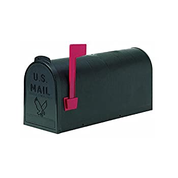 Flambeau T-R4501BL Standard Classic Mailbox Rural Style #1 Black