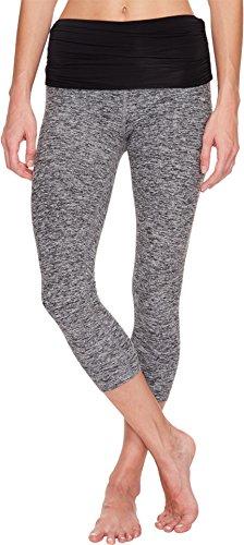 Product Image of the Beyond Yoga Fold Down Maternity Capri Leggings Black/White Space Dye XS (US 2-4)