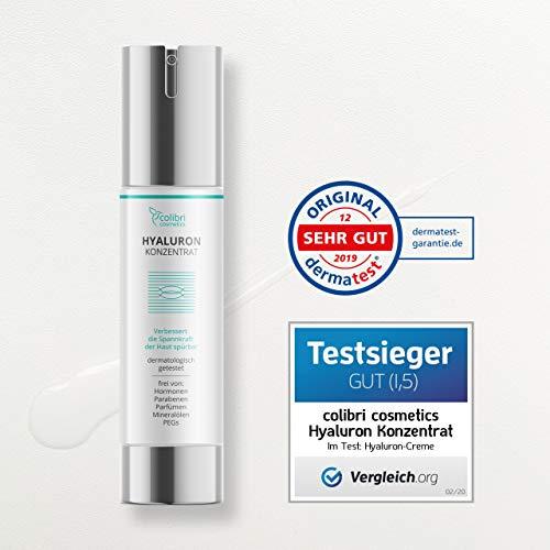 colibri cosmetics Hyaluronsäure serum hochdosiert - natürliche hyaluron anti-aging creme für das gesicht - 50ml von colibri cosmetics - naturkosmetik made in germany