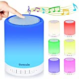 Bluetooth Speaker Night Light, Homecube Portable Touch Bedside Lamp with Dimmable, Gift for Men Women Teens Kids