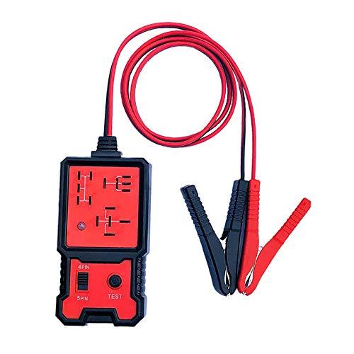 Shiwaki Voltímetro del probador de la batería del coche Digital de 12V y probador del relé del automóvil del analizador del sistema de carga