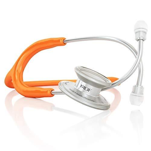 MDF® MD One® Epoch Estetoscopio Titanio - Garantía de por vida & Programa-piezas-gratuitas-de-por-vida (MDF777DT-27) (Naranja)