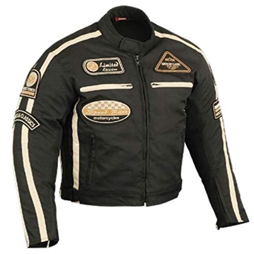 BOSmoto Motorradjacke, Motorrad Jacke Herren Sommertour Textiljacke, (2XL), Schwarz