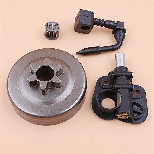 HCO-YU Embrague Drum Sprocket Bomba de Aceite Kit Motosierra Piezas de Repuesto Ajuste para Pareja 350 351 352 370 371 390 420 530047061 530071259 Tambor del Embrague
