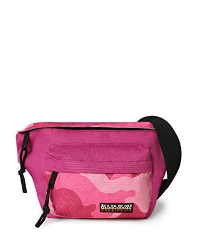 Napapijri HAN WB RE Print, Travel Accessory - Cinturón de viaje Unisex Adulto, Pink Camo Fv5, 40 cm