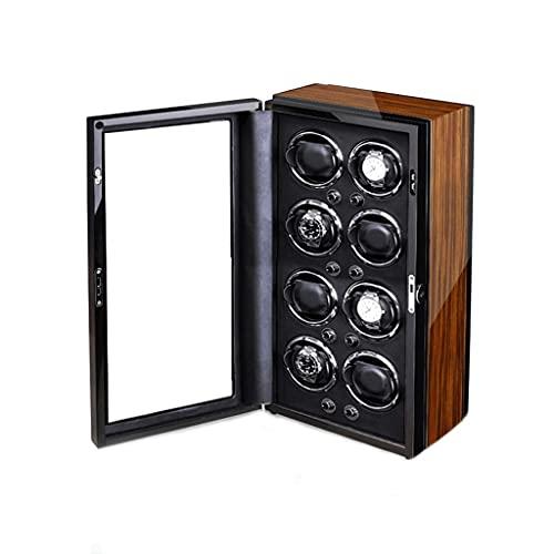 WRNM Cajas Giratorias para Relojes 8 Ranuras para Hombres Moda Hogar Madera Automático Ver Caja Presentación De Rotador (Color : A)