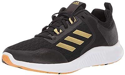 adidas Women's Edgebounce 1.5 Running Shoe, Black/Gold Metallic/White, 6.5 M US
