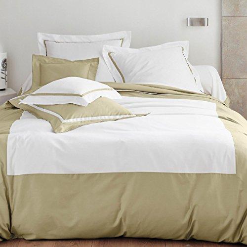 Blanc Des Vosges - Parure de lit Amboise cuivre 200 x 200 cm + 2 x 80 x 80 cm