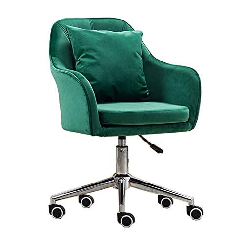 SACKDERTY Sillón Giratorio de Oficina, sillón de Terciopelo con Acento para Sala de Estar/Dormitorio/hogar/Estudio, Silla de Trabajo de Altura Ajustable con Ruedas