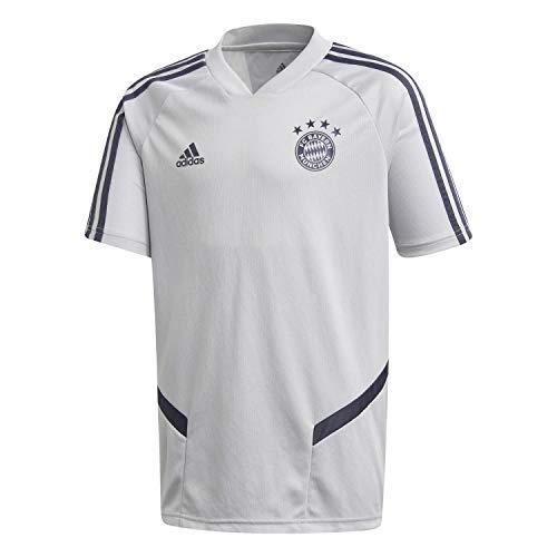 adidas Kinder FC Bayern München Trainings Trikot 19/20 LGH solid Grey/Trace Blue F17 152