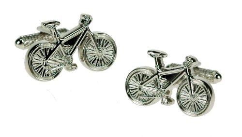 Onyx Art – Boutons de manchette fantaisie dans une boîte de présentation – Vélo – CK248