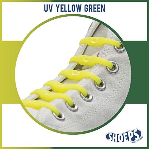 Shoeps Elastic Schnürsenkel, 14 teilig, Gelb/grün