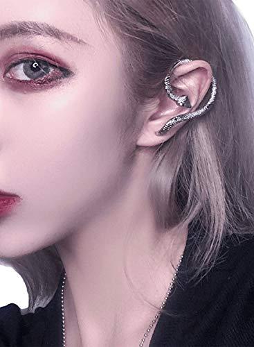 Damen-Ohrmanschette mit Schlangenmotiv, Wickel-Ohrringe für Frauen, Abschlussgeschenk, Modeschmuck, Geschenk Gr. Einheitsgröße, silber