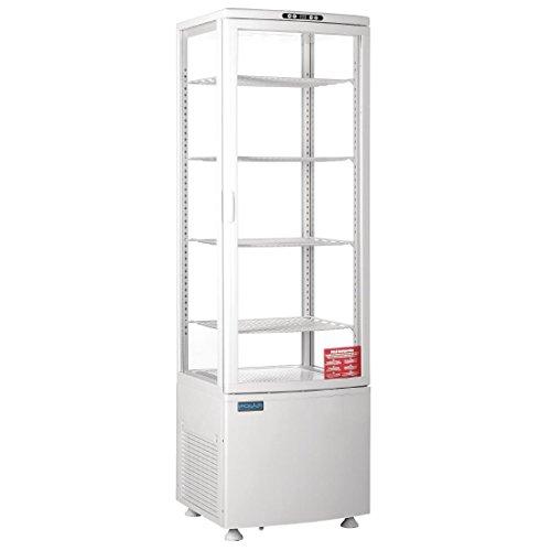 Polar gebogen, Display Kühlschrank 235Liter Commercial Restaurant Kühlschrank