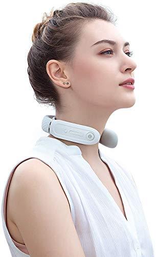 Neck Relax Massagegerät, SKG Pulse Nackenmassagegerät Kabellos mit Wärme und Sprachübertragung für Büro/Zuhause/Reisen, Verstellbares Neckrelax für Männer Frauen (Weiß)